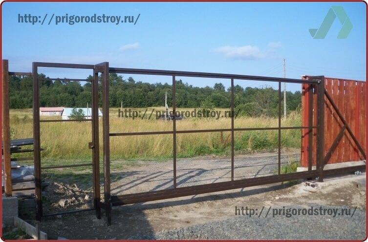 ворота откатные каркас 1