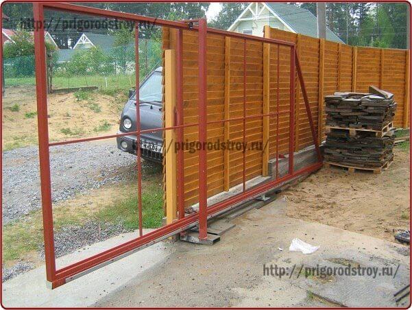 Откатные ворота видео фото