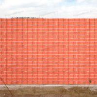 Забор с рисунком под кирпич