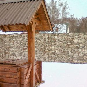 Забор из профнастила под камень