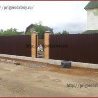 забор для клиента в СПб