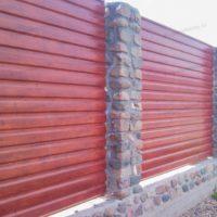 Горизонтальный забор из профнастила
