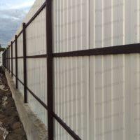 забор в ДНП Гришино - вид изнутри
