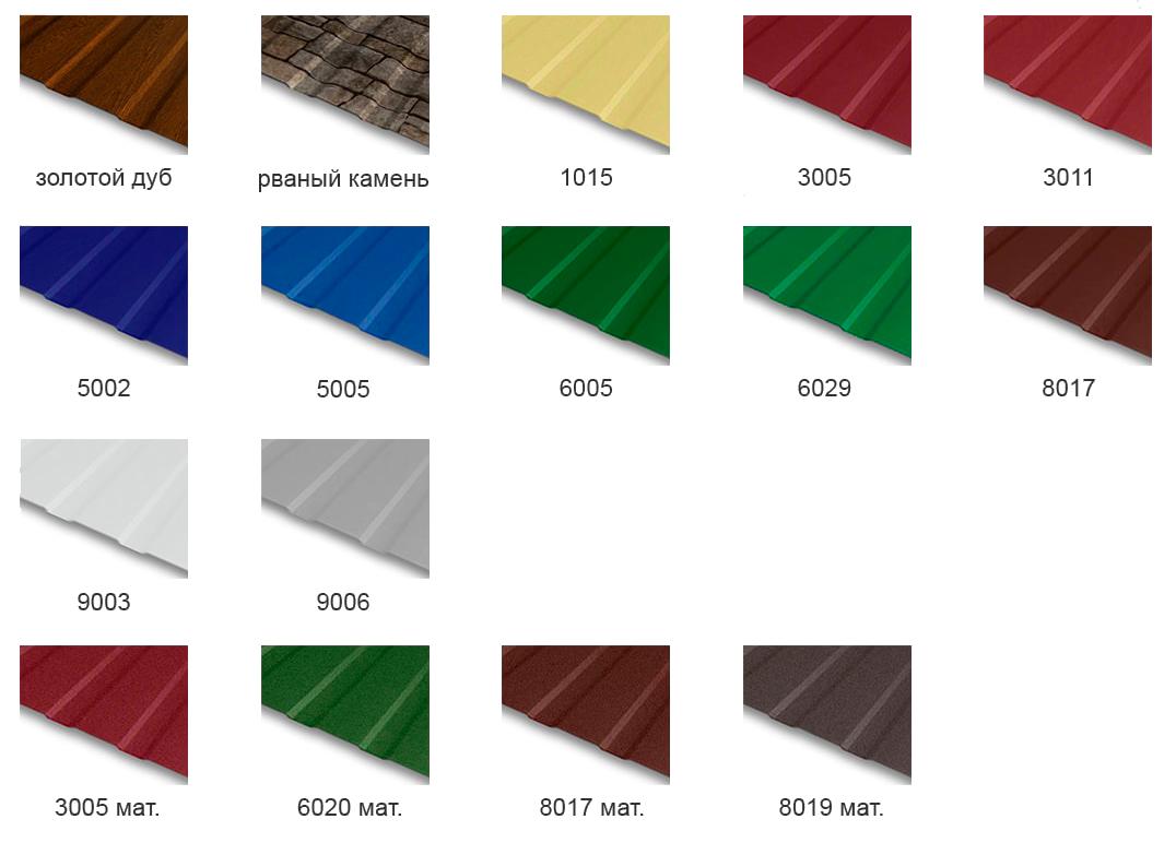 цвета профнастила для стен